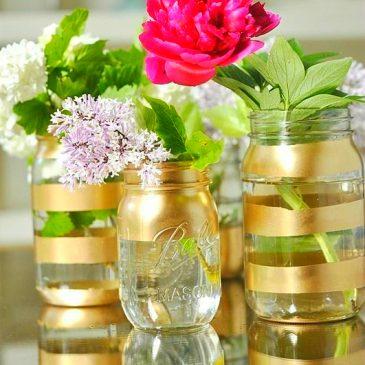 Napravite unikatnu vazu od tegle