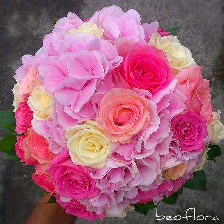 hortenzija, rosa mix beoflora bidermajer