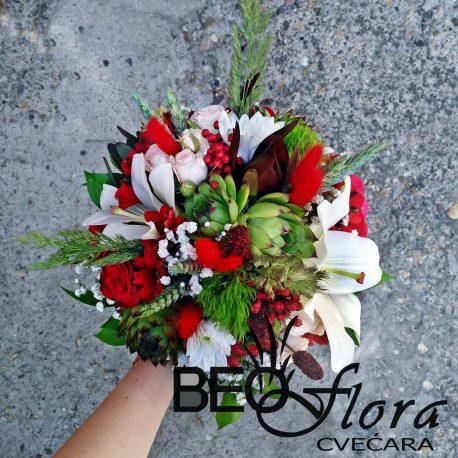 beoflora bidermajer sukulenti crvene ruze