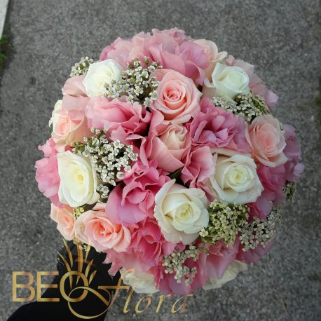 bidermajer beoflora bele i roze ruze