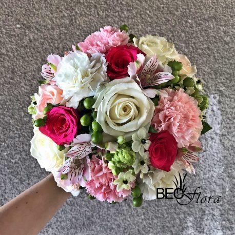 beoflora bidermajer, ruže, karanfili, ornitogalum