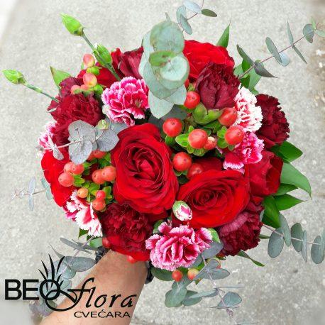 Bidermajer Beoflora red rose