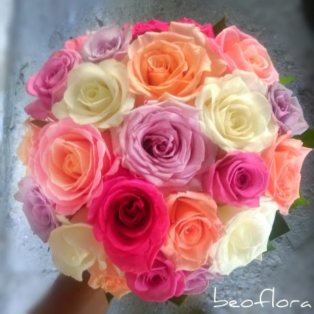 Bidermajer Beoflora mix ruze, roze, bele, ljubicaste
