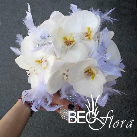 Beoflora bidermajer bela orhideja perje