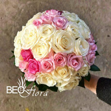 beoflora bidermajer šampanj i roze ruze
