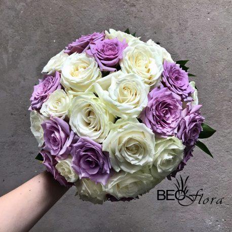 beoflora bidermajer bele i lila ruze