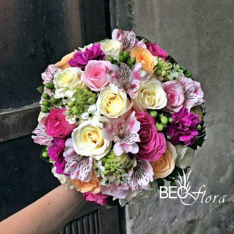 cvecara beoflora bidermajer ruze, ornitogalum, alstromerije